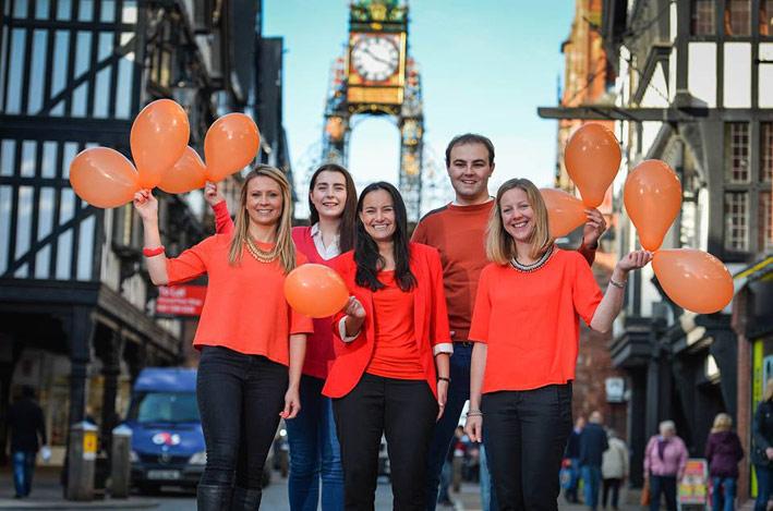 entyce-team-goes-orange-for-orangutans-Chester-Clock