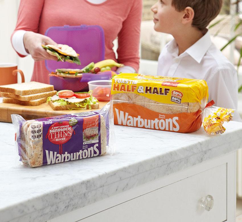 warburtons bread packaging