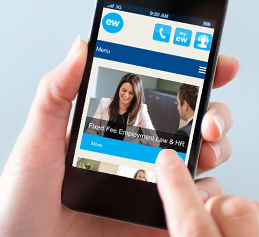 ellis whittam mobile responsive site