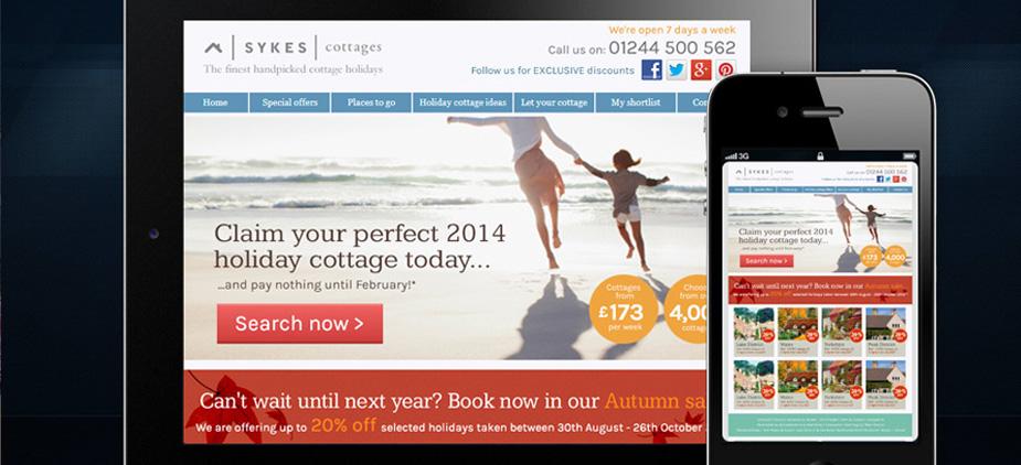 Sykes Cottages Website Design