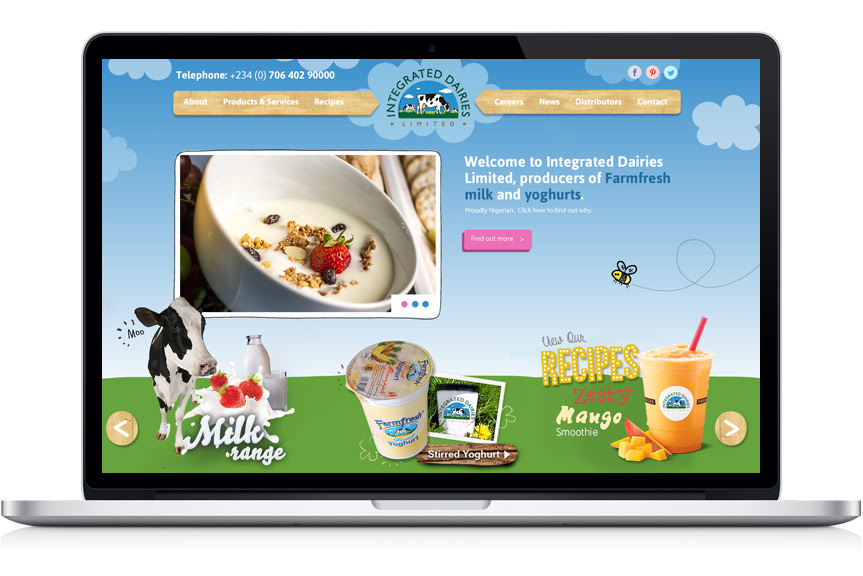 website-design-for-integrated-dairies