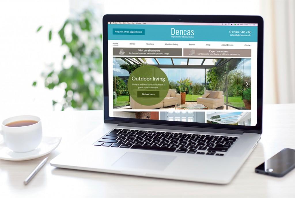 Dencas-website-on-laptop-entyce