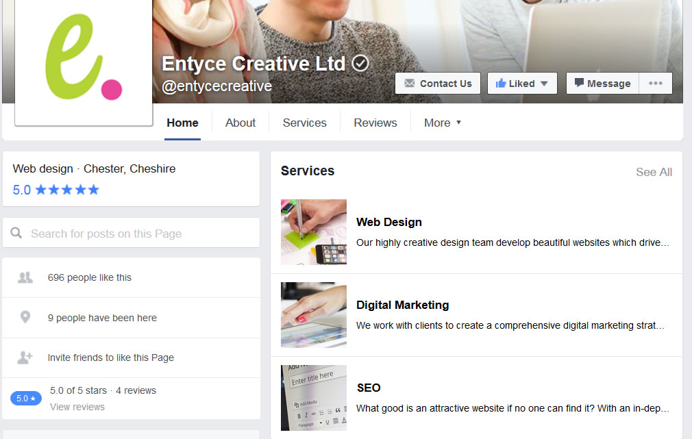 Facebook Services Tab