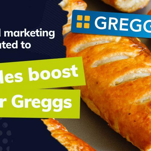 How has Greggs' digital marketing efforts produced record sales?