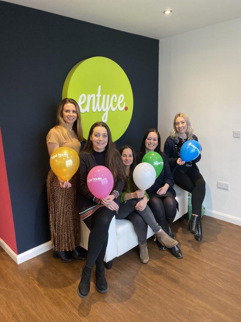 Entyce team and Hope House team