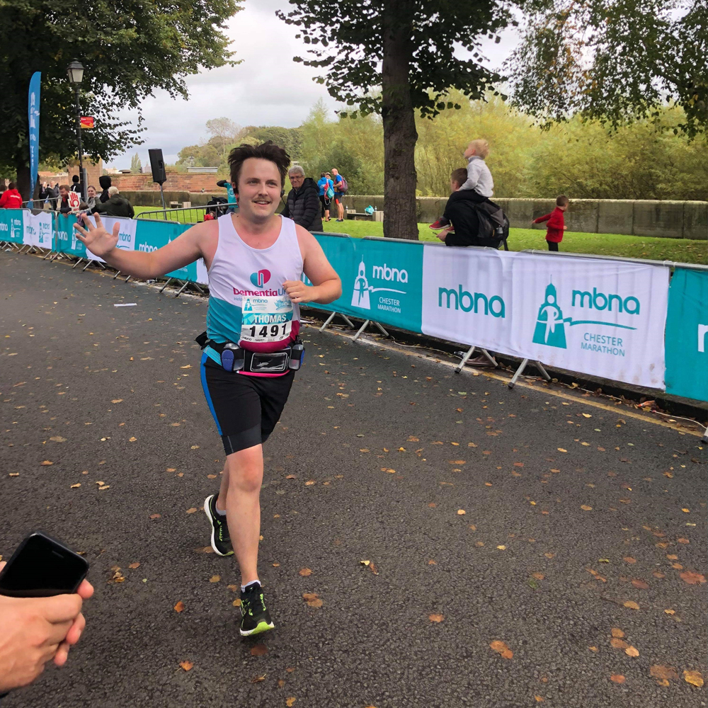 Tom running marathon